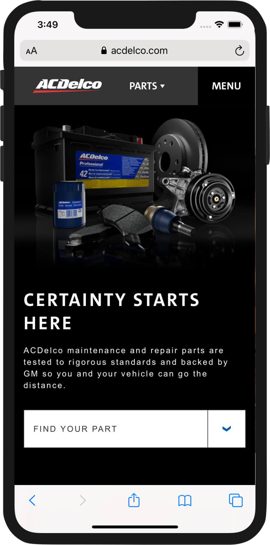 AcDelco.com Mobile