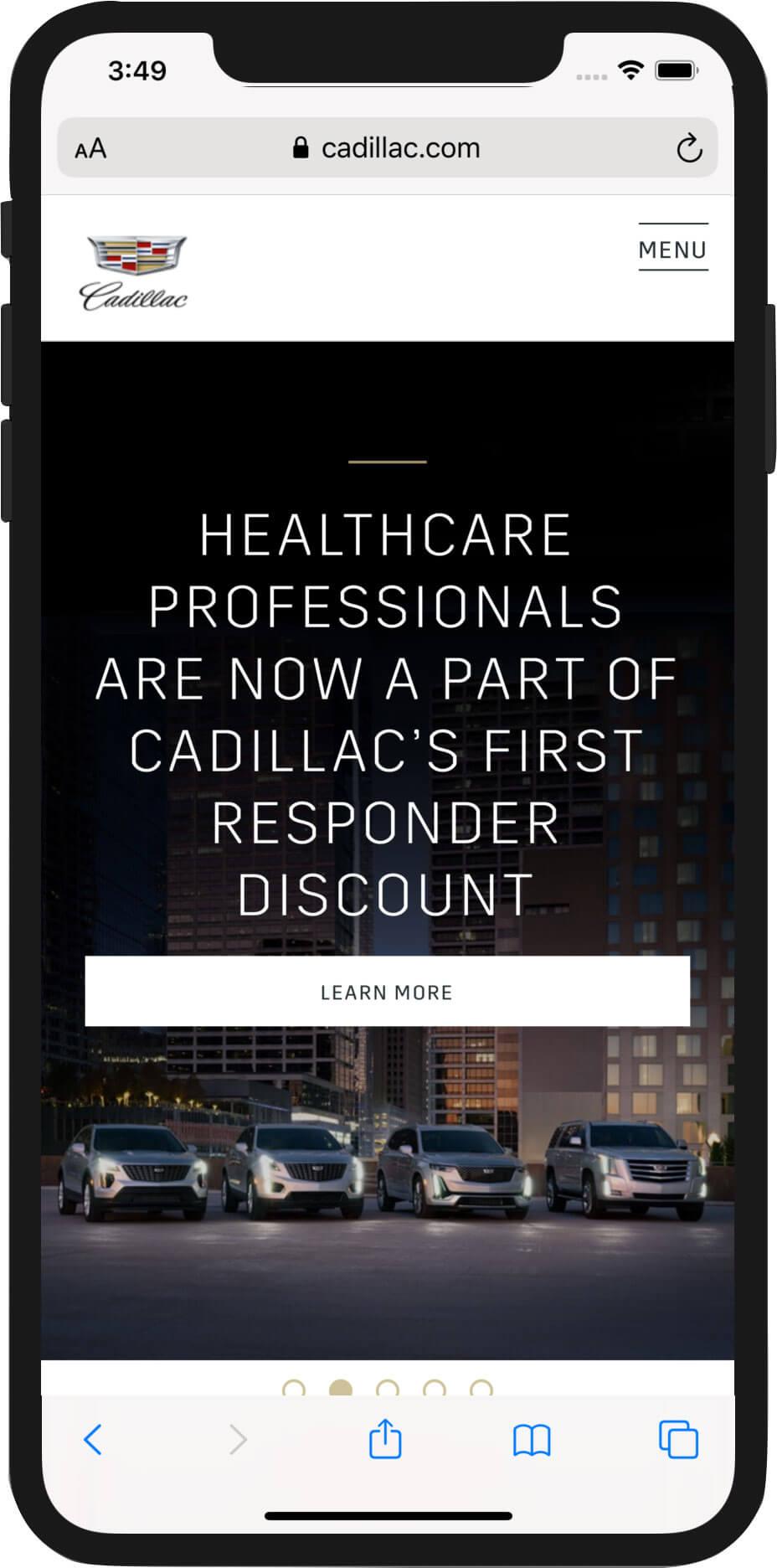 Cadillac.com Mobile