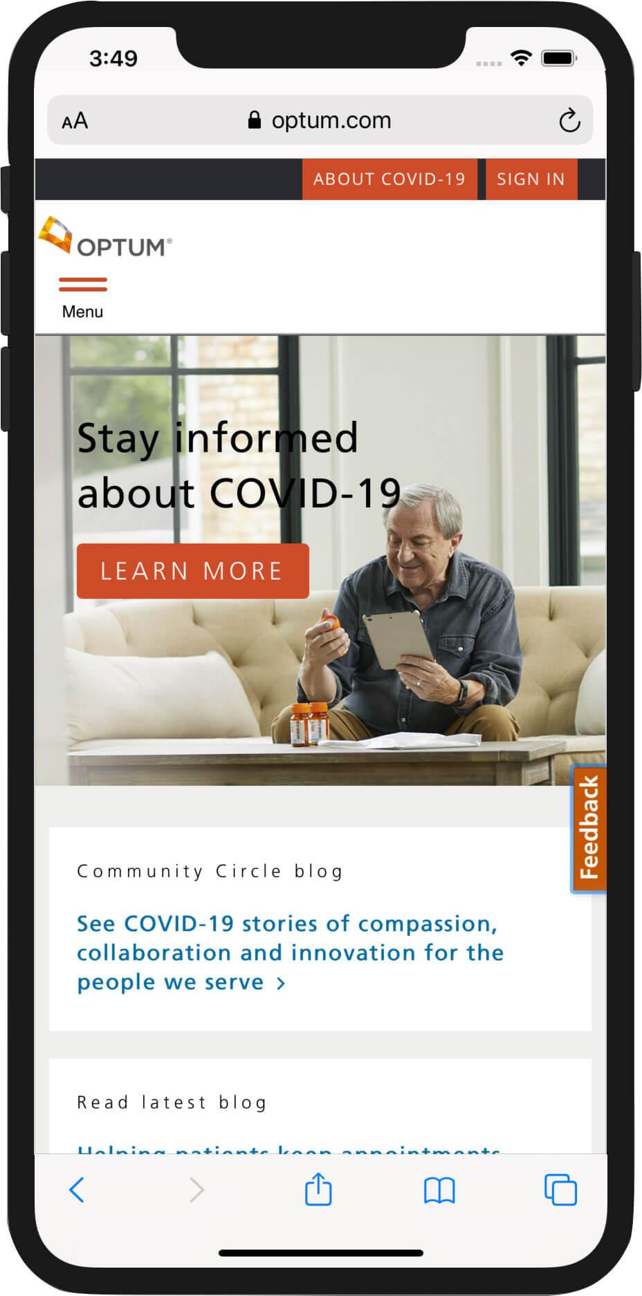 Optum.com Mobile